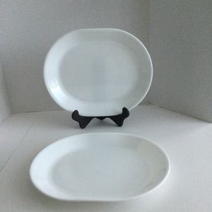 Corelle oval serving plate white set of 2